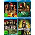 Fluch der Karibik 1. / 2. / 3. / 4. (Pirates of the Caribbean) | 4-Blu-ray
