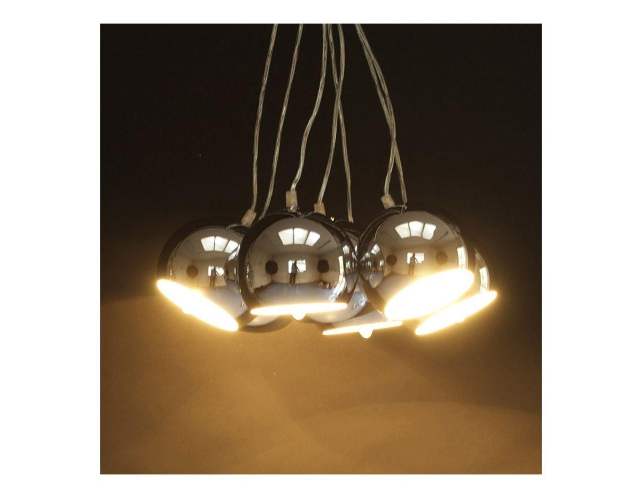7 Lampenschirme aus Chromstahl-Kokoon Design