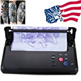 Funwill Shipping from USA Complete Tattoo Kit for Beginners Power Supply Kit Pro Black Recording Transfer Speed Copier Printer Machine Thermoprinter Thermal Stencil Paper Maker Fast Black Portable (Color: Black, Tamaño: 28 * 21 * 7cm / 11.0 * 8.3 * 2.8inch)