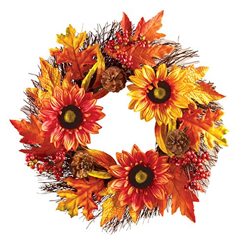 Autumn Harvest Sunflower Wreath