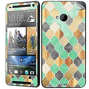 GsmKart HM7 Mobile Skin for HTC One M7 (Green, One M7-658)