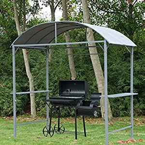 pavillon abri pour barbecue bbq jardin gazebo tonnelle tente de f te party tent m tal gris neuf. Black Bedroom Furniture Sets. Home Design Ideas