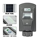ECO LLC 20W LED Solar Powered Wall Street Light PIR Motion Outdoor Garden Lamp (Color: Grey, Tamaño: 20W)