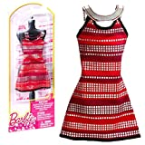 Barbie - Tendencia de la Moda para la Ropa de la Muñeca Barbie - Vestido de Rayas de Plata