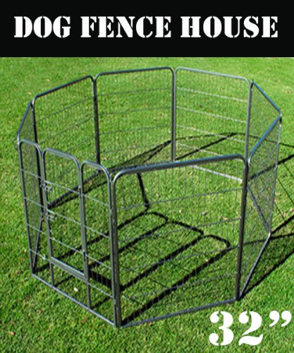 "New Heavy Duty 32"" Dog Playpen Pet Cage Exercise Pen Fence House front-1006952"