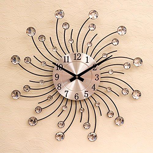 掛け時計 光が当たると、とても綺麗 お洒落 デザインウォールクロック サンClear