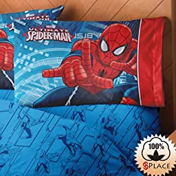 Ultimate Spider-Man Collection 3-Piece Colorful Sheet Set Ind/Twin