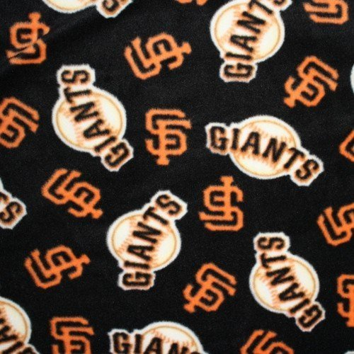 MLB San Francisco Giants Baseball Fleece Fabric Print By the Yard