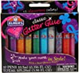 Elmer's Washable Glitter Glue Pens, Pack of 10 Pens, Classic Rainbow and Glitter Colors (E199)
