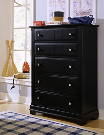 Cottage 5 Drawer Chest Finish: Black