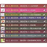 Hamish Macbeth - 10 book set: Death of a Gossip, Death of a Cad, Death of An Outsider, Death of a Perfect Wife, Death of a Hussy Death of a Snob Death of a Prankster, Death of a Glutton, Death of a Travelling Man and Death of a Charming Man M C Beaton