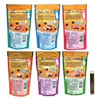 Wellness Kittles Cat Treat Variety Pack - 6 Flavors (Turkey, Duck, Chicken, Salmon, Whitefish, & Tuna), 2-Ounces Each