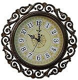 SNS Creations designer round wall clock Wall Clock - 41 cm x 41 cm Golden
