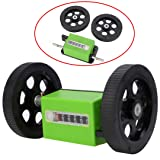 200 Times/min Meter Counter 1:3 Rolling Wheel Mechanical Length Counters With Two Rolling Wheel
