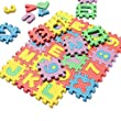 36pcs Mini Foamies Soft Alphabet Numbers Puzzle Mat Teaching Toys for Kids Badies