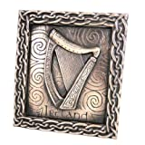 Bronze Celtic Harp Plaque