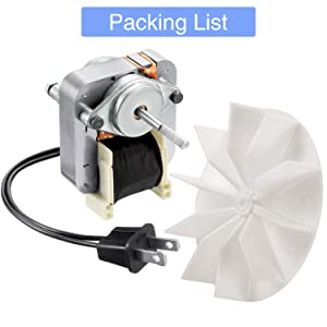 120 volts 60hz Replacement Electric Motor Kit for Broan Nutone Uppco Ventorola