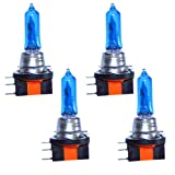 LEZEN H15 12V 15/55W Super White Auto Car Halogen Bulb Xenon Filled (Pack of 4)