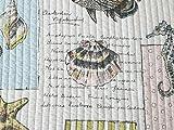 LELVA-Ocean-Bedding-Set-Seashells-Beach-Theme-Patchwork-Quilt-Set-Comforter-Set