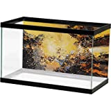 bybyhome Fish Tank Poster Abstract Big Color Block Flow Color Yellow New Abstract Landscape Image Fish (Color: Design13, Tamaño: 36