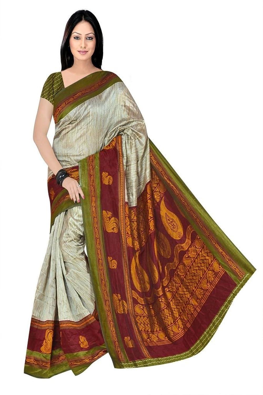 Multi Maysor Silk Printed Saree