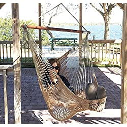 Krazy Outdoors Grande-Sedia-Amaca Maya, in legno-Beautiful & Loop fine, elegante e confortevole, capacità 300 g (136077,60 LBS), misura grande