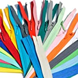 Unique Invisible Zipper Assortment of Colors YKK Conceal ~ Closed Bottom (Chose Your Own Size and Qty) (25 zippers, 14 inch)