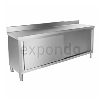 Royal Catering - RCAT-200/60-C - Work Cabinet - stainless steel - two sliding doors