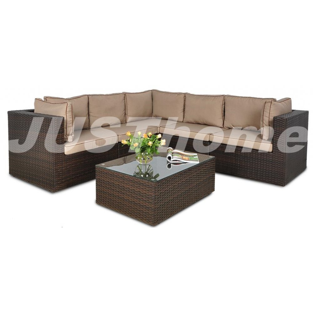 JUSThome Gartentisch Glastisch Bistrotisch RODOS (HxBxL): 32x62x87 cm Braun kaufen