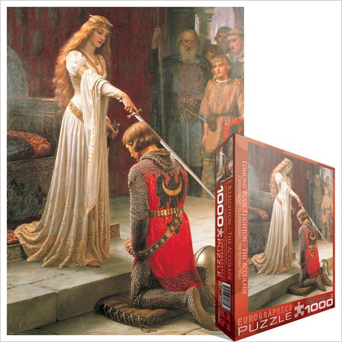Cheap Fun EuroGraphics The Accolade by Edmund Blair Leighton 1000 Piece Jigsaw Puzzle (B004LT9750)