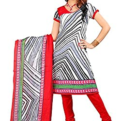 Shree Hari Creation Women's Poly Cotton Unstitched Dress Material (237_Multi-Coloured_Free Size)