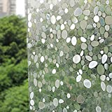 Generic Premium Decorative No-Glue 3D Static Privacy Window Film for Bathroom Bedroom Office Sliding Glass Door Window Cling (17.7x78.7Inch)