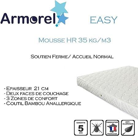 Armorel MAEAS150/210 Easy Matelas Mousse Blanc 210 x 150 cm