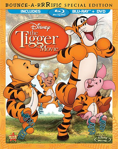 Cover art for  The Tigger Movie: Bounce-A-Rrrific Special Edition (Two-Disc Blu-ray/DVD  Combo in Blu-ray Packaging)