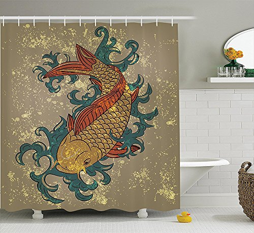 Japanese decor collection grunge asian style japanese cold for Koi meaning in english