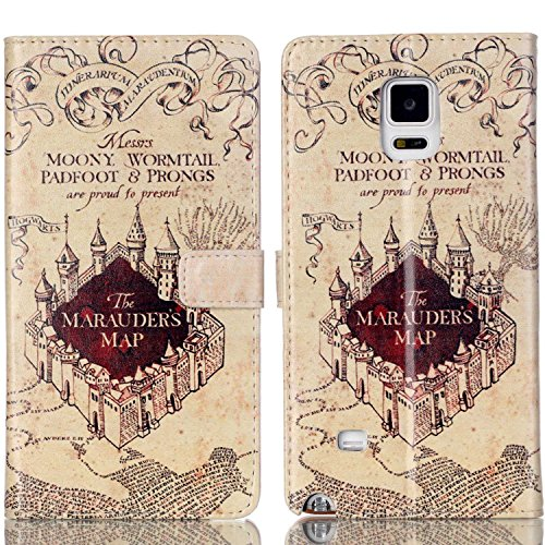 Galaxy S5 Case - Hogwarts Marauder's Map Pattern Slim Wallet Card Flip Stand PU Leather Pouch Case Cover For Samsung Galaxy S5 / Galaxy SV / Galaxy S V - Cool as Great Gift (Shipped from US, 3-7 days to delivery!) (Galaxy S5 Cool Wallet Case compare prices)