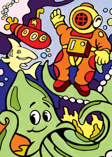 Royal & Langnickel Junior Mini Paint By Number Kit: 5x7 Underwater Diving/My First - 1