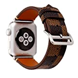 NewSilkRoad For Apple Watch Band 38mm,Classic Plaid Pattern Leather Band Strap with Stainless Metal Buckle for Apple Watch Series 3, Series 2, Series 1, Sport & Edition (C) (Color: C)