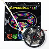 SUPERNIGHT (TM) 5M / 16.4FT Warm White 5050 SMD Flexible LED Strip Lights 150 leds
