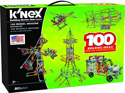 K'NEX 100 Model Building Set - 863 Pieces - Ages 7+ Engineering Educational Toy (Building Models For Adults compare prices)