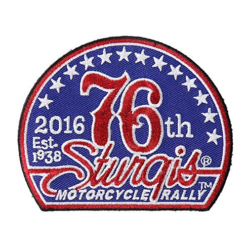 Hot Leather Men's Official 2016 Sturgis Motorcycle Rally 76th Logo Patch