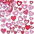 Lot de 130 autocollants en mousse - motif coeur