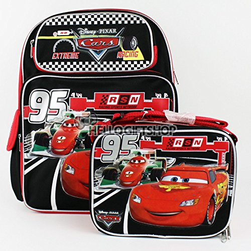 Disney Pixar Cars Mcqueen Boys And Girls School Backpack With Lunch Bag Set