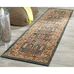 Safavieh Mahal Collection MAH697E Traditional Oriental Navy and Natural Runner (2\'2\