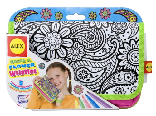 ALEX Toys Color a Bag & Accessories Color A Flower Wristlet