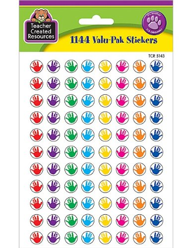 Teacher Created Resources Mini Stickers Valu Pack, Helping Hands (5143)