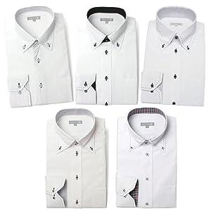 ワイシャツ 5枚セット ドレスシャツ 長袖