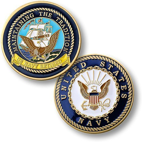 Navy Retired - Enamel - 1