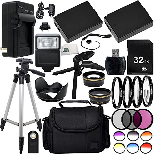 Ultimate 58mm Lens 28PC Accessory Kit for Canon EOS Rebel T3 T5 1100D 1200D DSLR Cameras Includes Wide Angle & Telephoto Lenses + 3PC Filter Kit + 4PC Macro Filter Kit + MUCH MORE