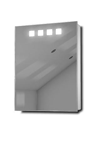 Deva LED Illuminated Bathroom Mirror Cabinet With Sensor & Shaver k259